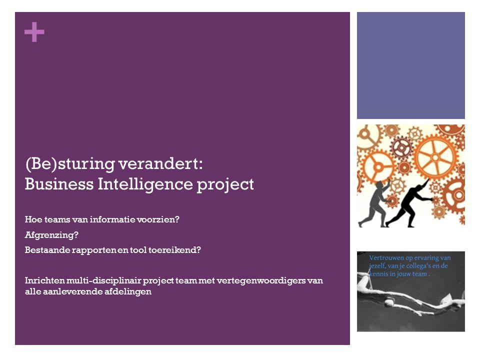 + (Be)sturing verandert: Business Intelligence project Hoe teams van informatie voorzien.