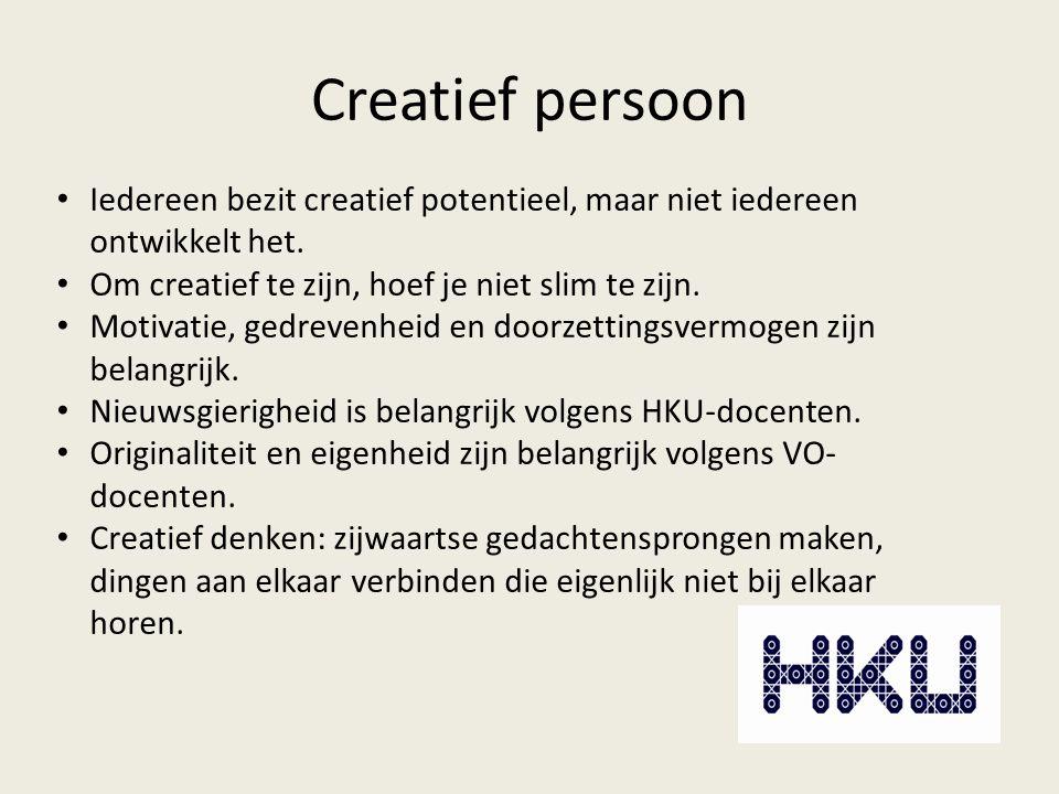 Creatief persoon Iedereen bezit creatief potentieel, maar niet iedereen ontwikkelt het.