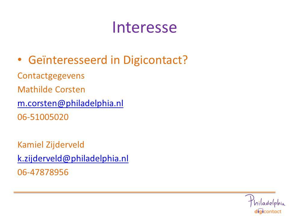 Interesse Geïnteresseerd in Digicontact.