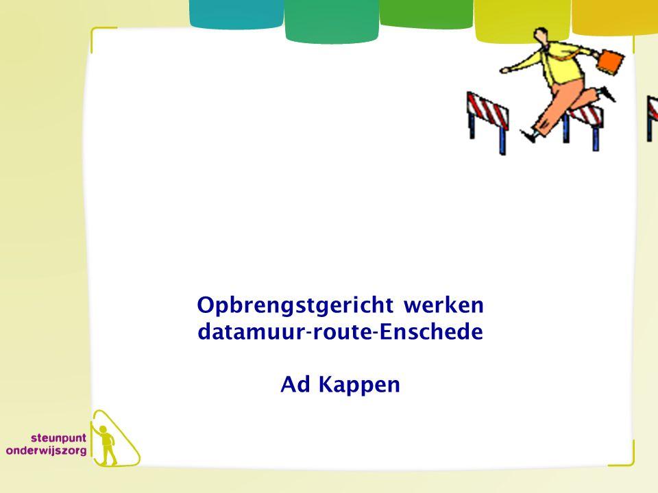 voorstellen Coordinator Steunpunt Onderwijszorg Enschede 41 basisscholen en 2 speciale basisscholen.