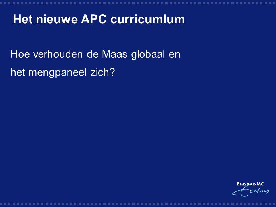 Het nieuwe APC curricumlum Hoe verhouden de Maas globaal en het mengpaneel zich