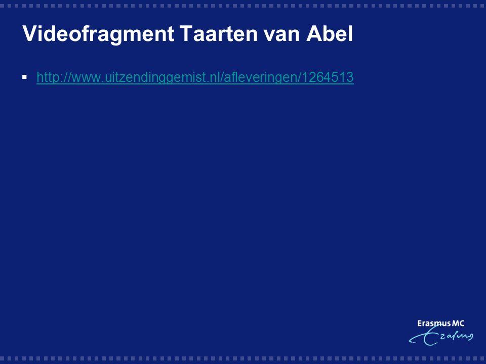 Videofragment Taarten van Abel  http://www.uitzendinggemist.nl/afleveringen/1264513 http://www.uitzendinggemist.nl/afleveringen/1264513