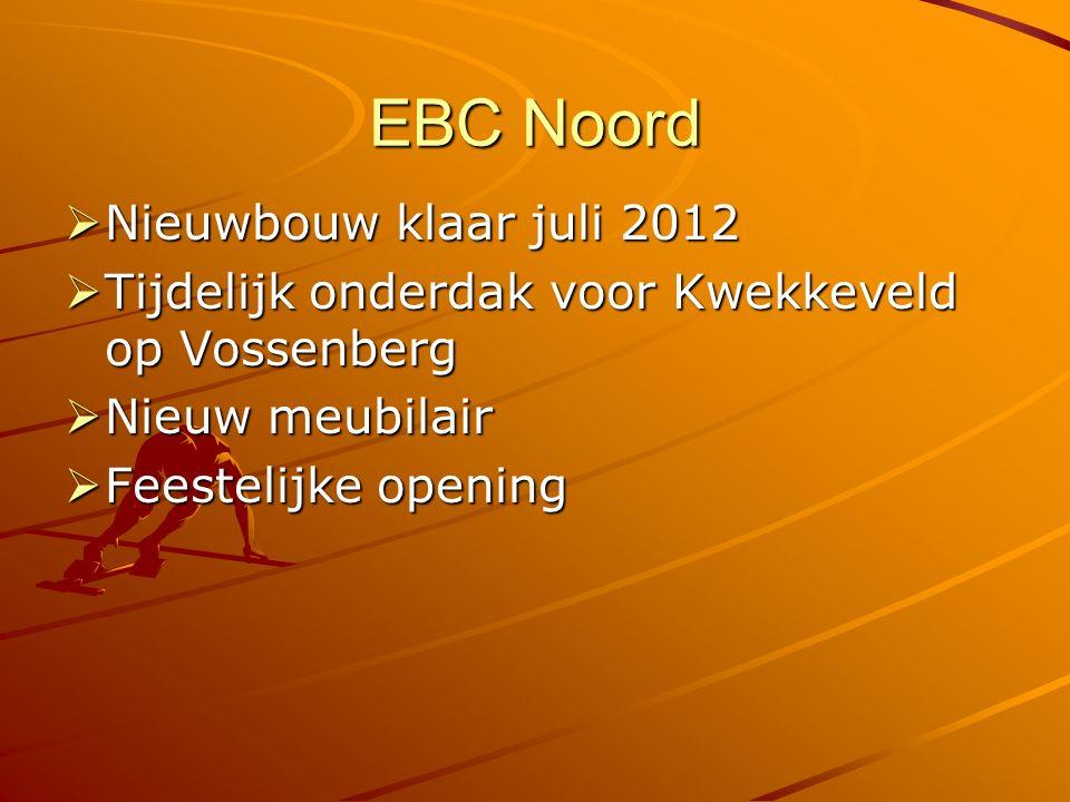 EBC Noord  Nieuwbouw klaar juli 2012  Tijdelijk onderdak voor Kwekkeveld op Vossenberg  Nieuw meubilair  Feestelijke opening