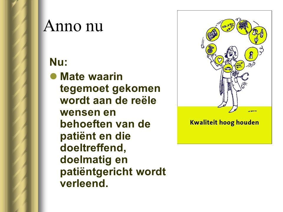 Anno nu Nu: Mate waarin tegemoet gekomen wordt aan de reële wensen en behoeften van de patiënt en die doeltreffend, doelmatig en patiëntgericht wordt