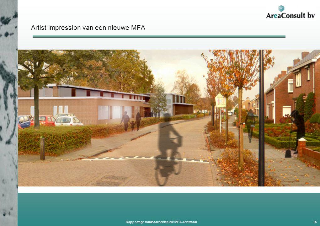 Artist impression van een nieuwe MFA 16 Rapportage haalbaarheidstudie MFA Achtmaal