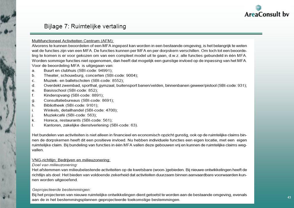 Bijlage 7: Ruimtelijke vertaling Rapportage haalbaarheidstudie MFA Achtmaal 43