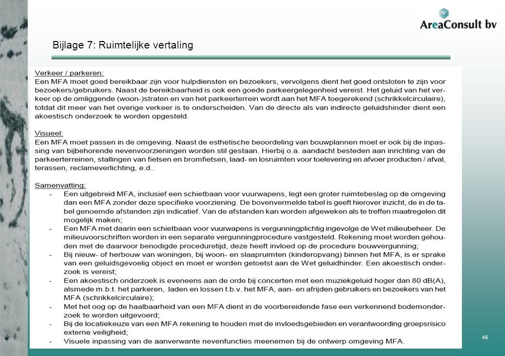 Bijlage 7: Ruimtelijke vertaling Rapportage haalbaarheidstudie MFA Achtmaal 46