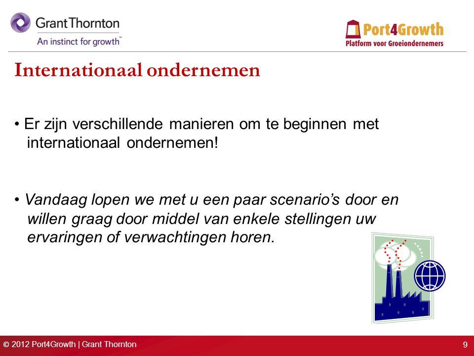 © 2012 Port4Growth | Grant Thornton Er zijn verschillende manieren om te beginnen met internationaal ondernemen.