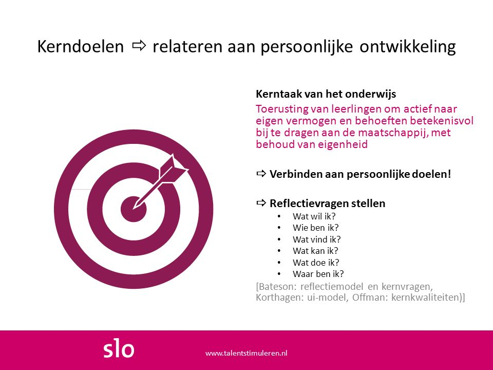 Talent in ontwikkeling (Houkema & Kaput, 2011) www.talentstimuleren.nl