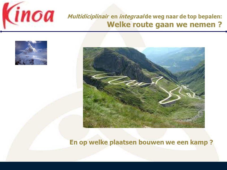 PEARLE B E N E L U X Multidiciplinair en integraal de weg naar de top bepalen: Welke route gaan we nemen .