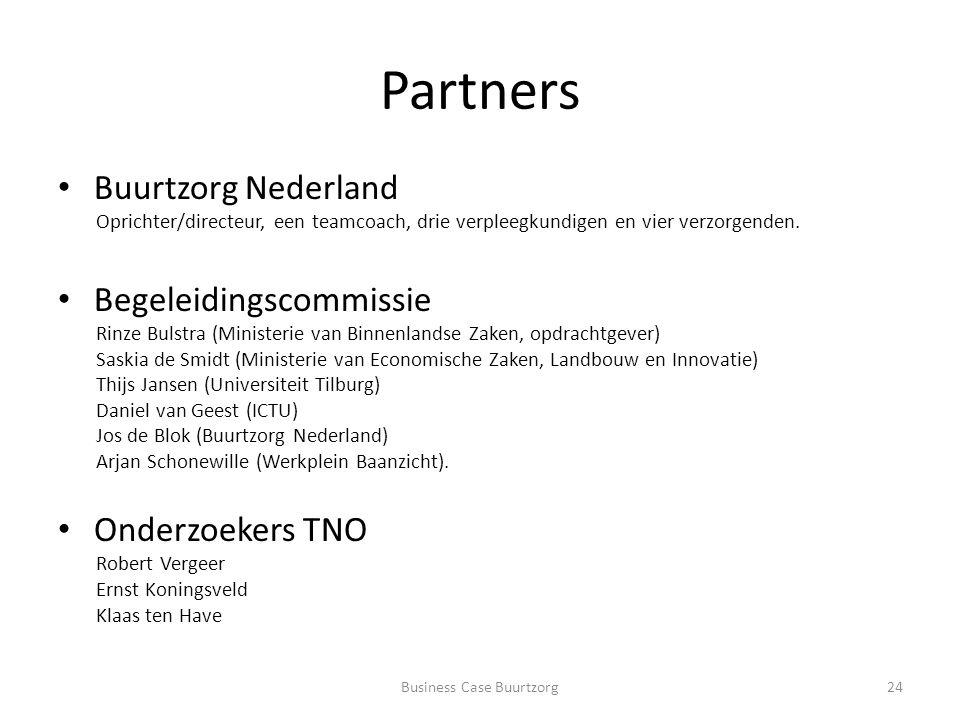 Partners Buurtzorg Nederland Oprichter/directeur, een teamcoach, drie verpleegkundigen en vier verzorgenden.