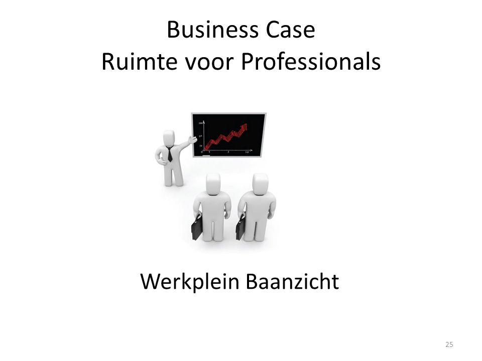 Business Case Ruimte voor Professionals Werkplein Baanzicht 25