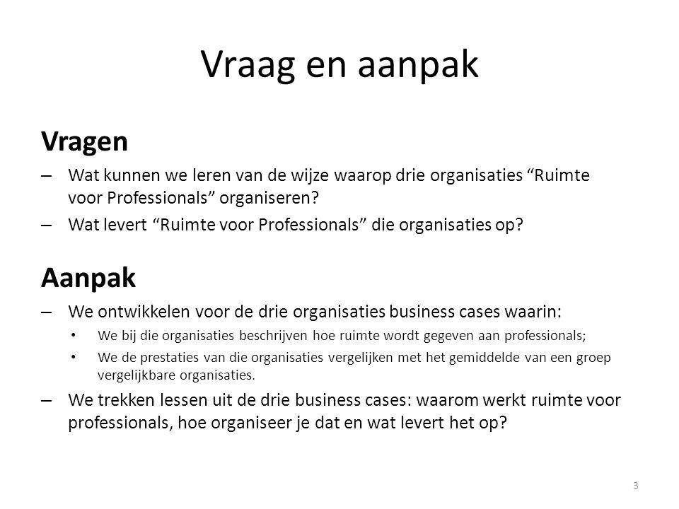 Wat kan een organisatie doen om Ruimte aan Professionals te geven.