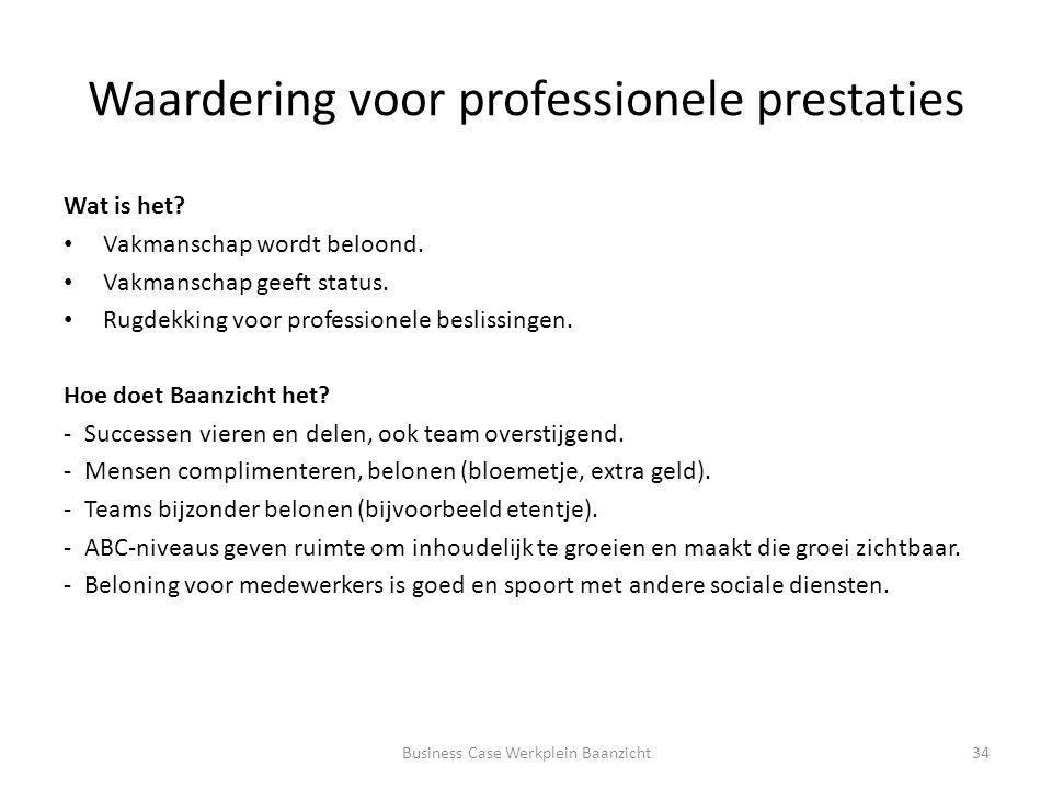 Waardering voor professionele prestaties Wat is het.