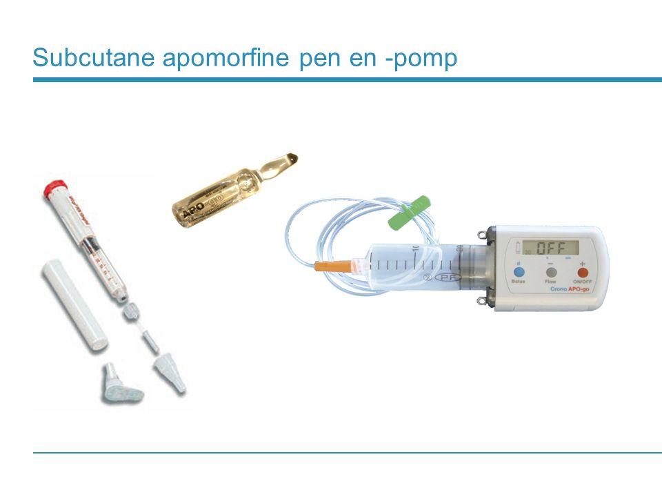 Subcutane apomorfine pen en -pomp