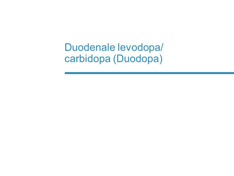 Duodenale levodopa/ carbidopa (Duodopa)