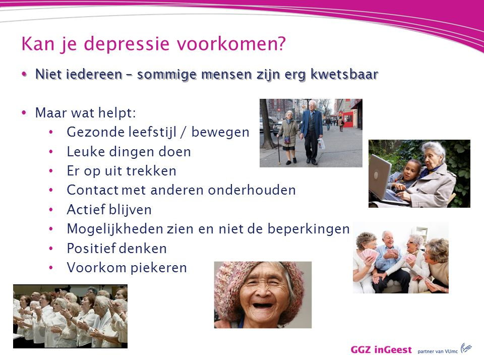 Kan je depressie voorkomen.