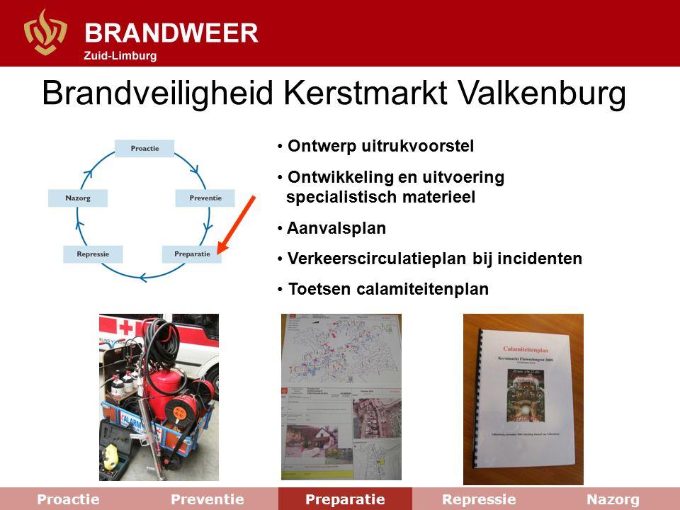 Brandveiligheid Kerstmarkt Valkenburg Ontwerp uitrukvoorstel Ontwikkeling en uitvoering specialistisch materieel Aanvalsplan Verkeerscirculatieplan bi