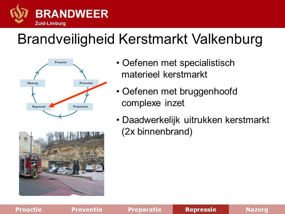 Brandveiligheid Kerstmarkt Valkenburg Oefenen met specialistisch materieel kerstmarkt Oefenen met bruggenhoofd complexe inzet Daadwerkelijk uitrukken