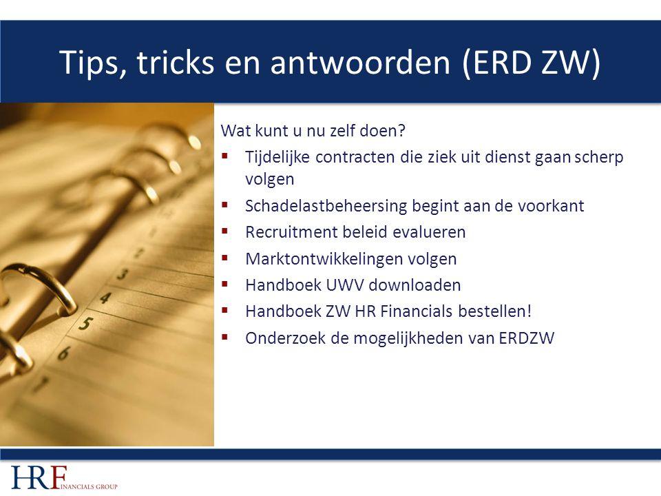 Tips, tricks en antwoorden (ERD ZW) Wat kunt u nu zelf doen.