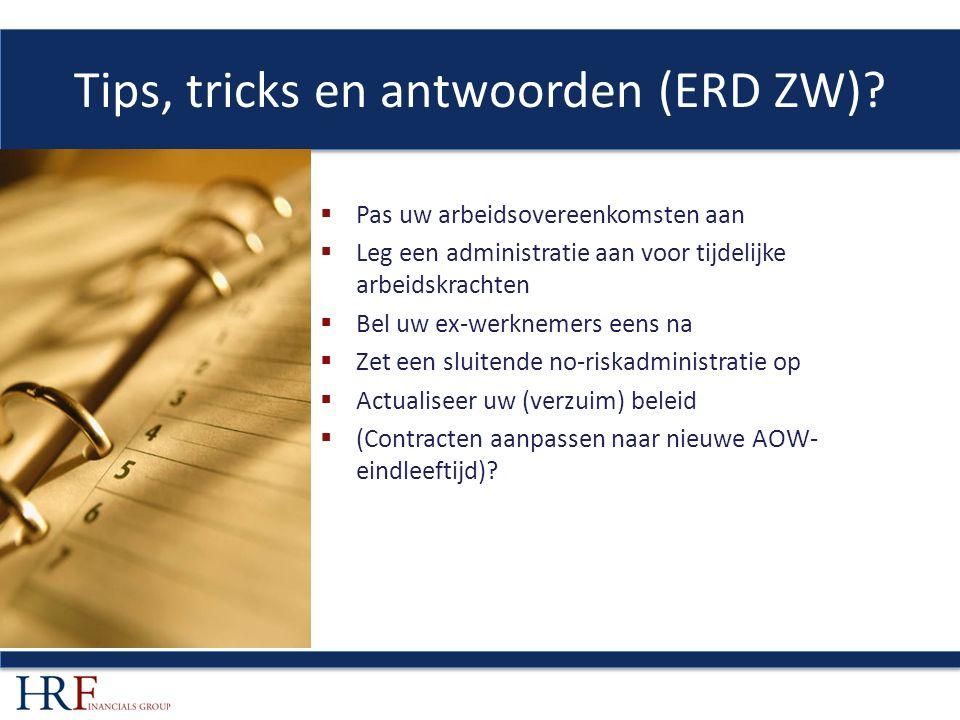 Tips, tricks en antwoorden (ERD ZW).