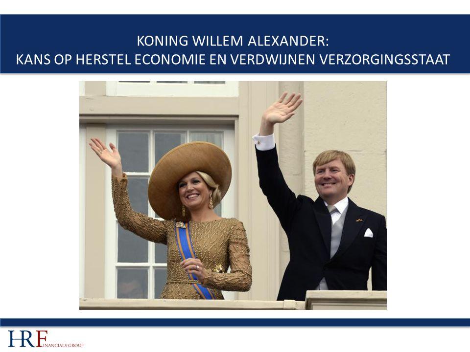 KONING WILLEM ALEXANDER: KANS OP HERSTEL ECONOMIE EN VERDWIJNEN VERZORGINGSSTAAT