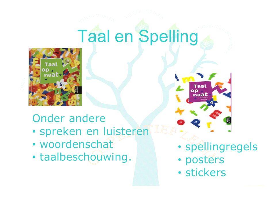 Taal en Spelling Onder andere spreken en luisteren woordenschat taalbeschouwing.