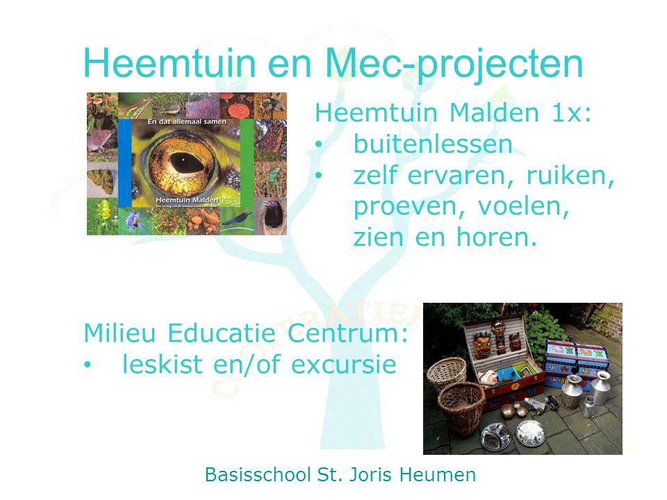 Heemtuin en Mec-projecten Basisschool St.