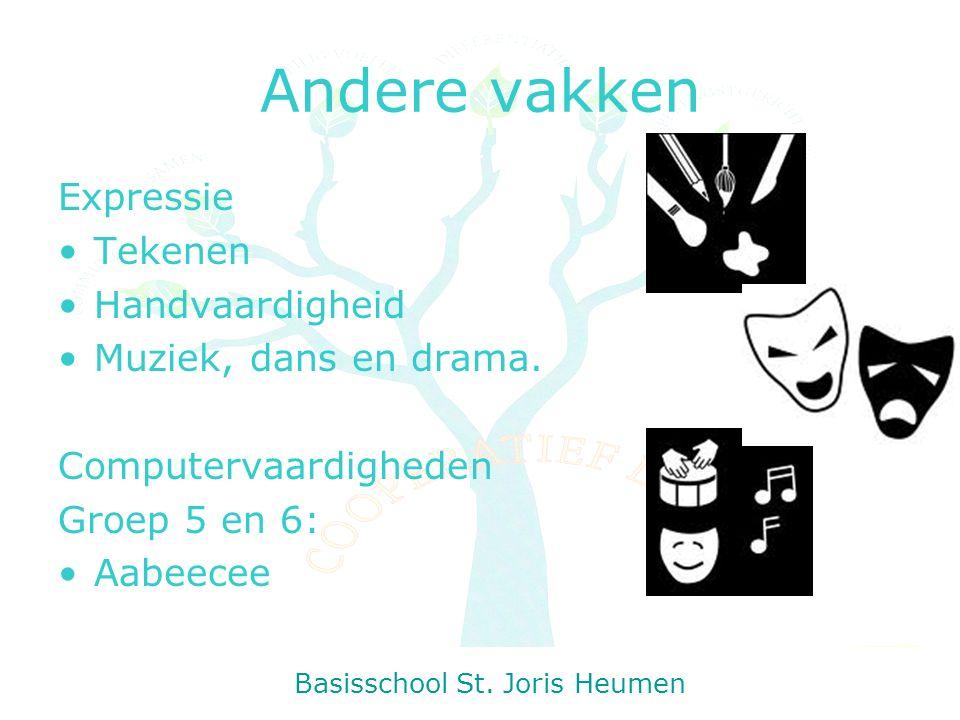 Andere vakken Expressie Tekenen Handvaardigheid Muziek, dans en drama.