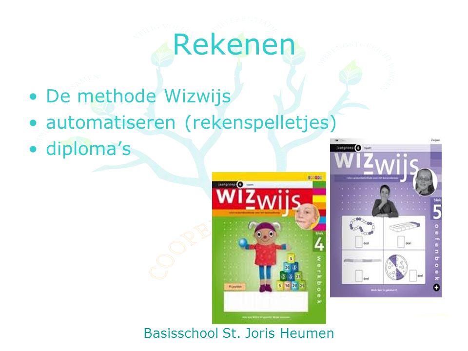 Rekenen De methode Wizwijs automatiseren (rekenspelletjes) diploma's Basisschool St. Joris Heumen