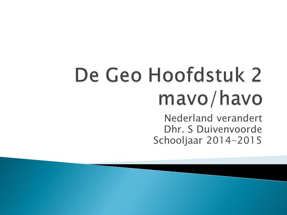 Nederland verandert Dhr. S Duivenvoorde Schooljaar 2014-2015