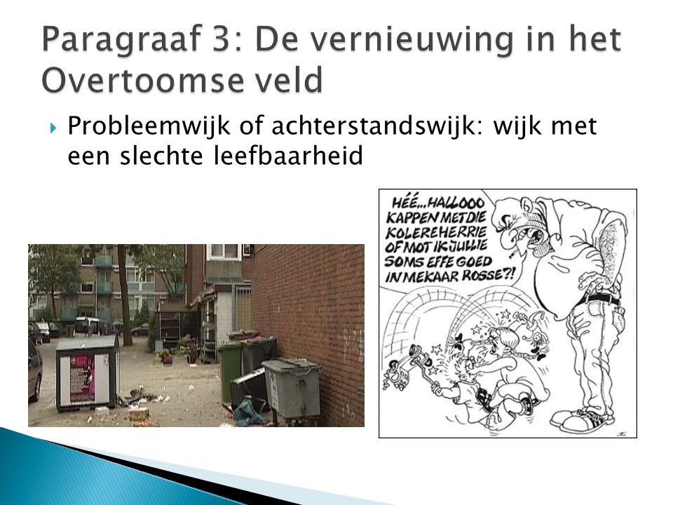  Probleemwijk of achterstandswijk: wijk met een slechte leefbaarheid