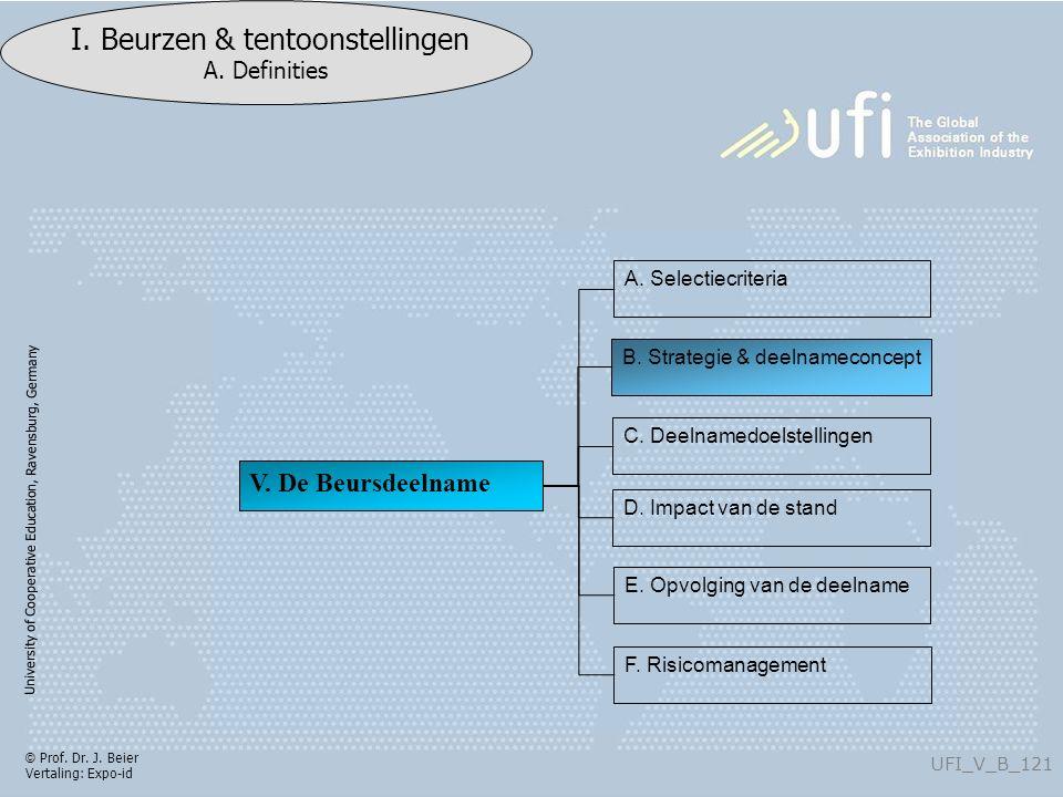 University of Cooperative Education, Ravensburg, Germany UFI_V_B_121 I.