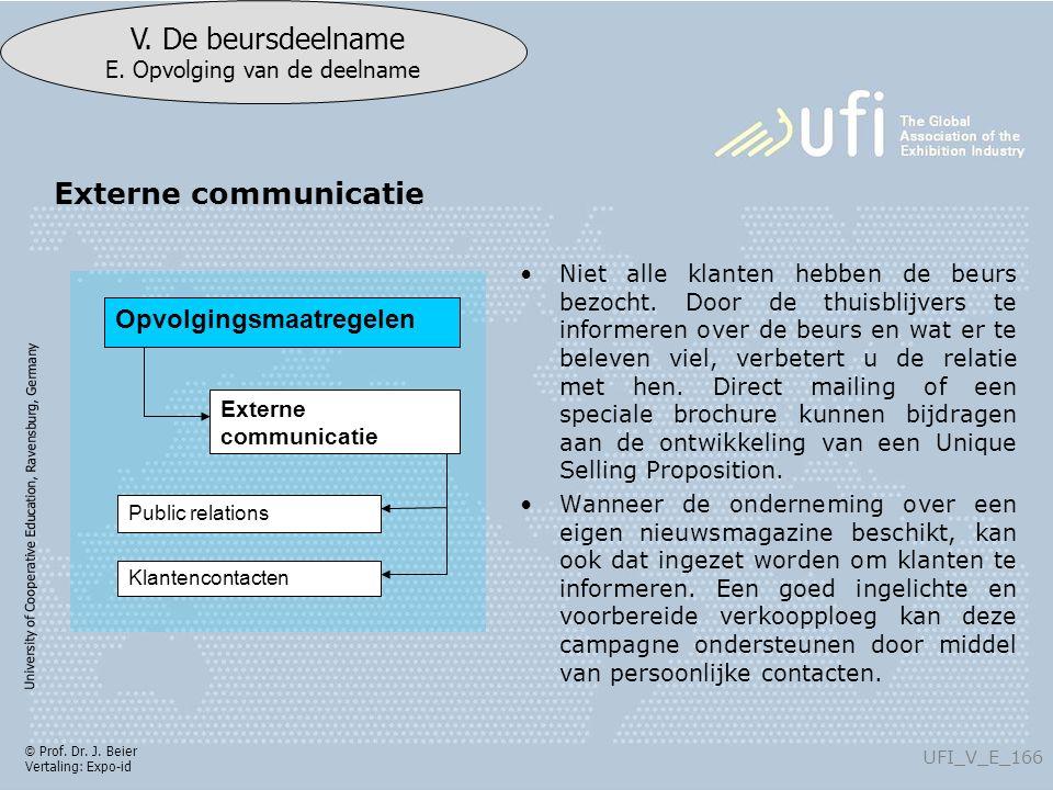 University of Cooperative Education, Ravensburg, Germany UFI_V_E_166 V.