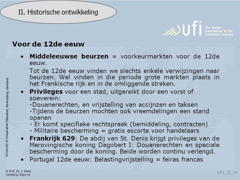 University of Cooperative Education, Ravensburg, Germany UFI_II_29 II. Historische ontwikkeling © Prof. Dr. J. Beier Vertaling: Expo-id Middeleeuwse b