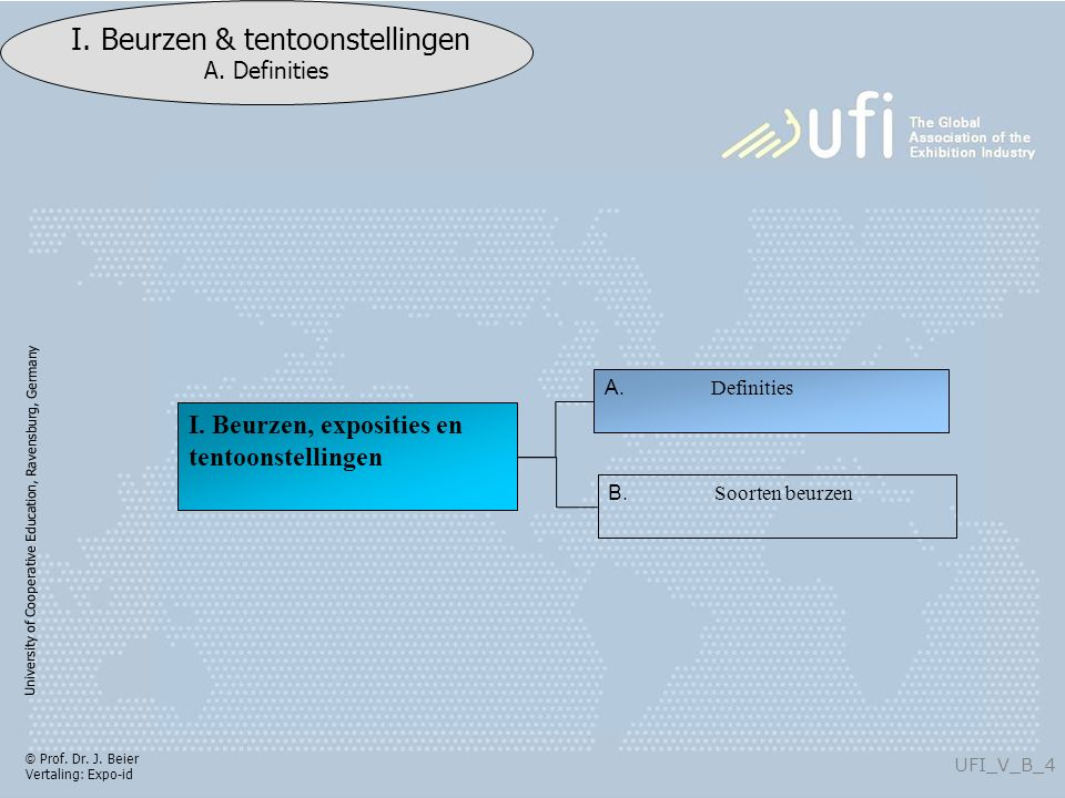 University of Cooperative Education, Ravensburg, Germany UFI_I_B_25 I.
