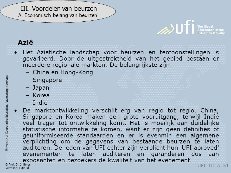University of Cooperative Education, Ravensburg, Germany UFI_III_A_51 III.