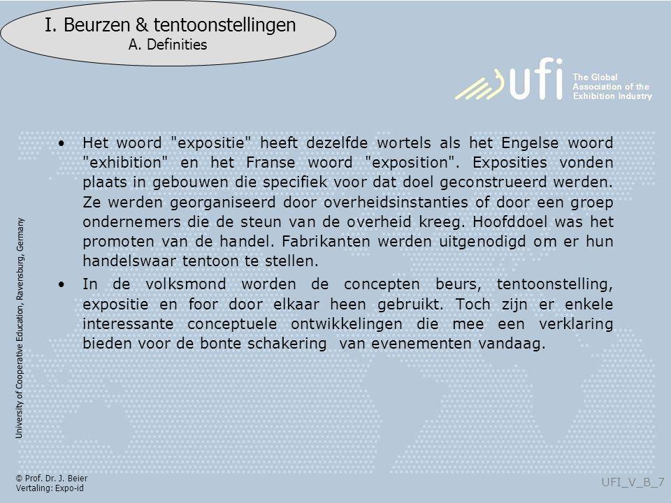 University of Cooperative Education, Ravensburg, Germany UFI_V_B_128 I.