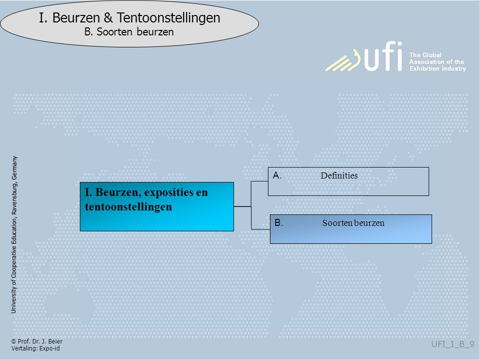 University of Cooperative Education, Ravensburg, Germany UFI_V_B_120 I.
