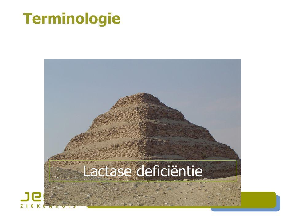 Terminologie Lactase deficiëntie