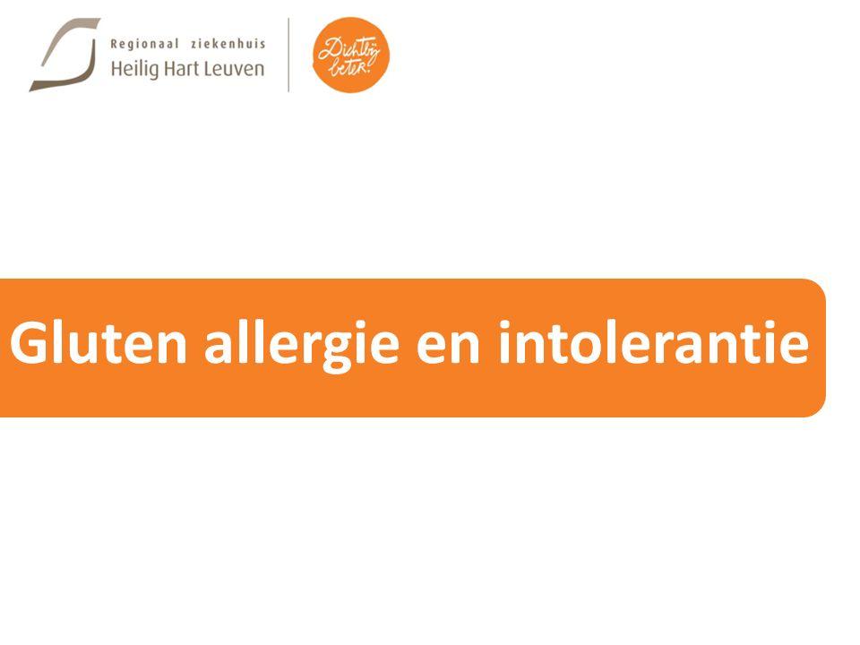 Gluten allergie en intolerantie