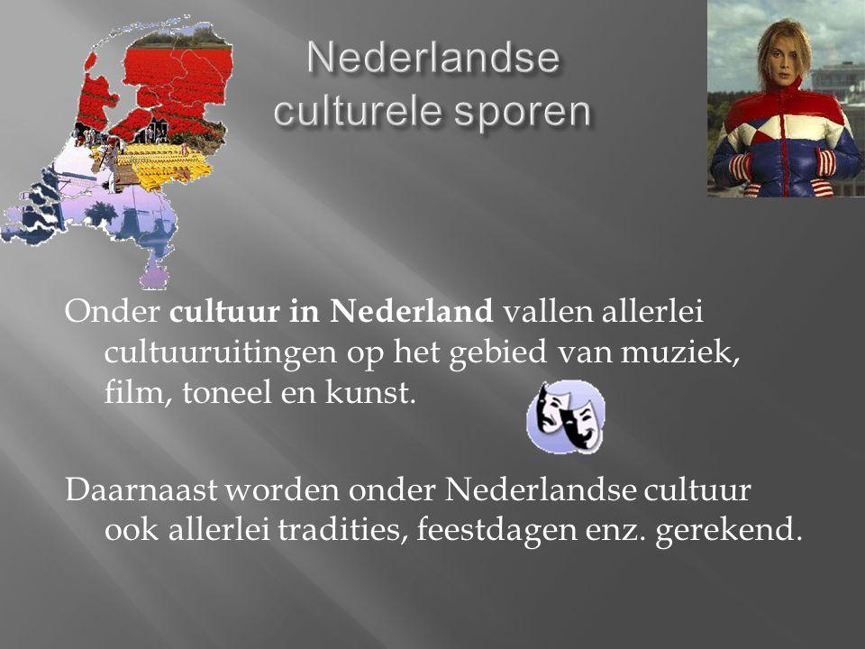 Onder cultuur in Nederland vallen allerlei cultuuruitingen op het gebied van muziek, film, toneel en kunst.