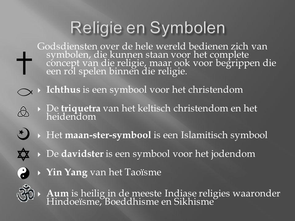 Godsdiensten over de hele wereld bedienen zich van symbolen, die kunnen staan voor het complete concept van die religie, maar ook voor begrippen die een rol spelen binnen die religie.