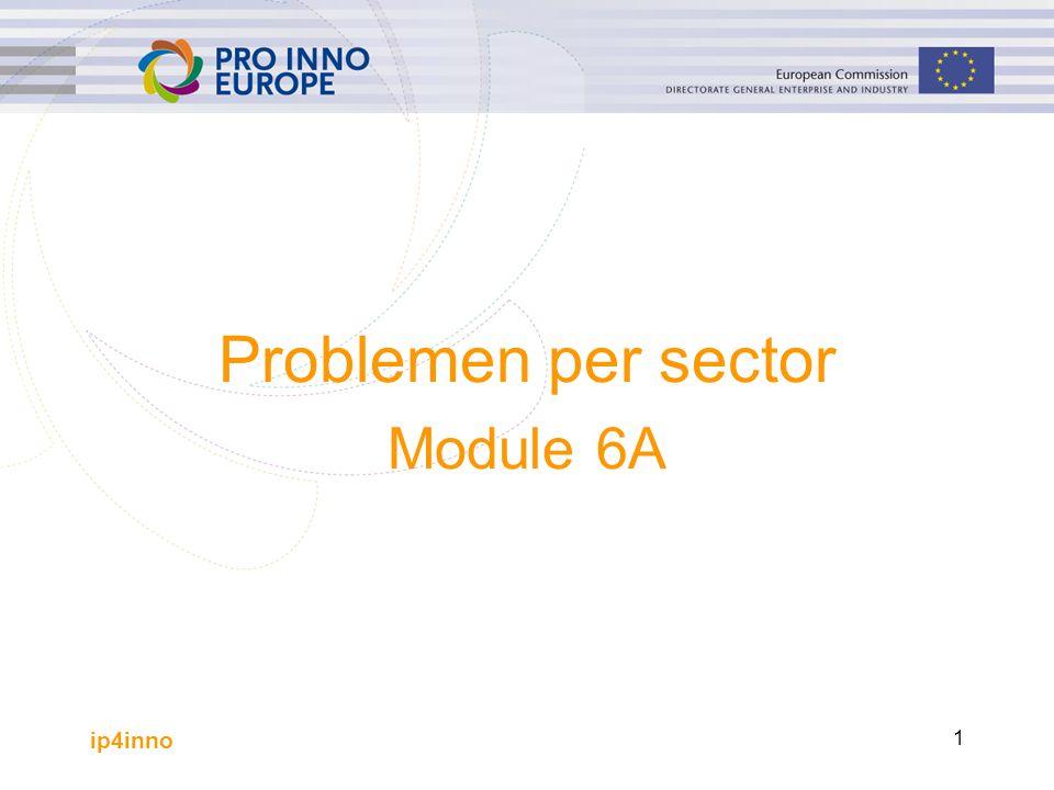 ip4inno 1 Problemen per sector Module 6A