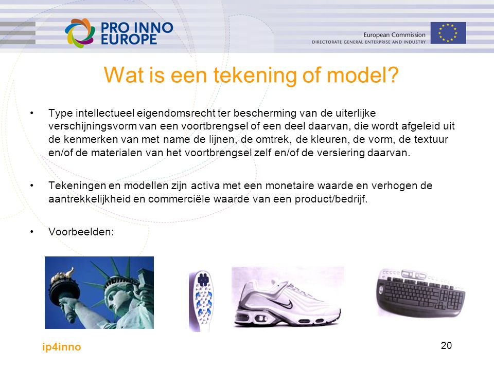 ip4inno 20 Wat is een tekening of model.