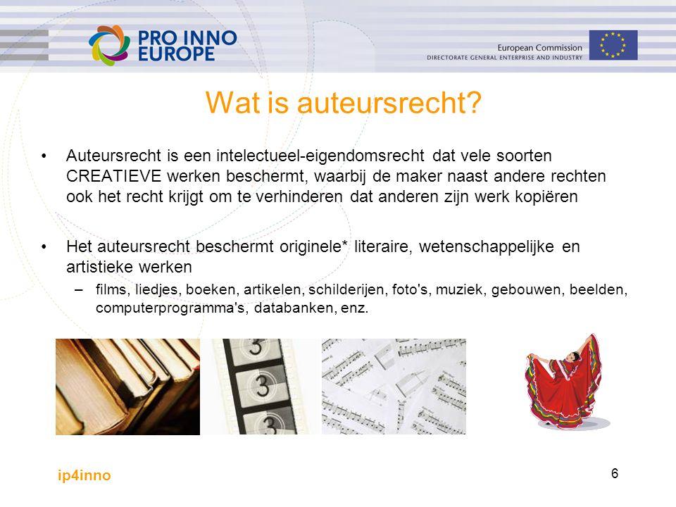 ip4inno 6 Wat is auteursrecht.