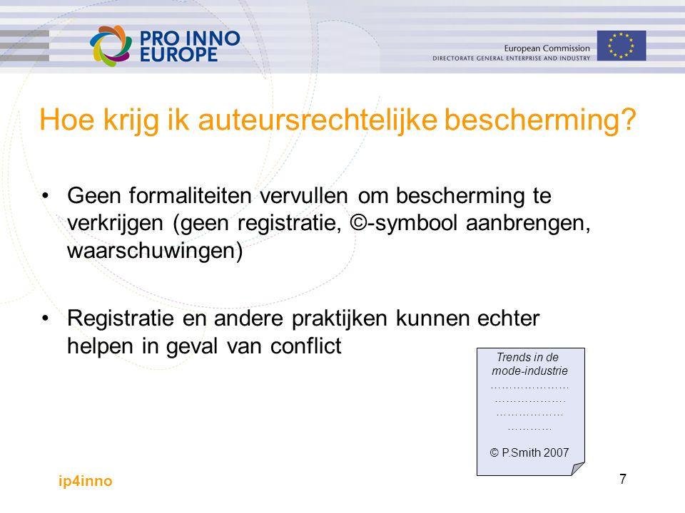 ip4inno 7 Hoe krijg ik auteursrechtelijke bescherming.