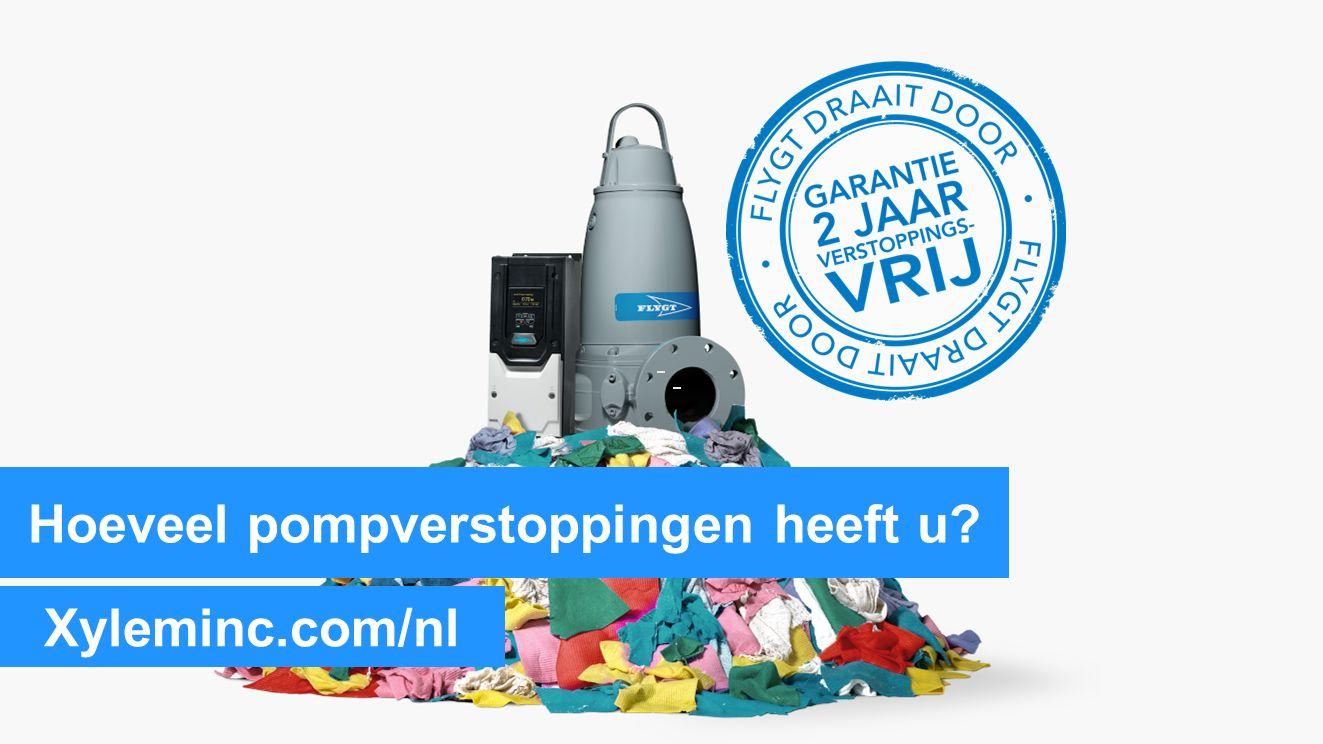 Hoeveel pompverstoppingen heeft u Xyleminc.com/nl