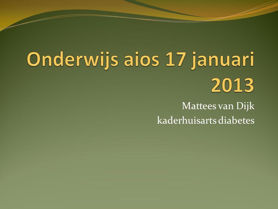 Mattees van Dijk kaderhuisarts diabetes