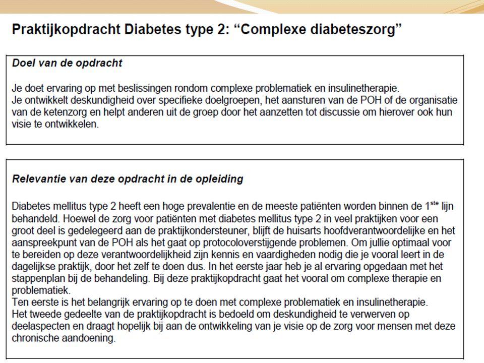 Praktische zaken Start aan het begin van de week Halveer de hoeveelheid insuline de avond voor de omzetting Injectietijden gekoppeld aan de maaltijden Humane mixinsuline 30 min.